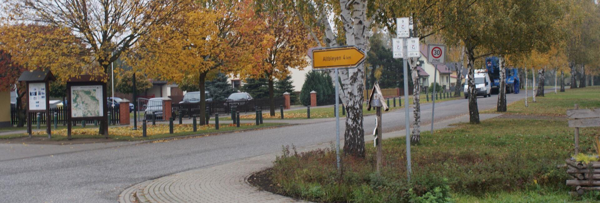 Die Ortslage in Gorgast