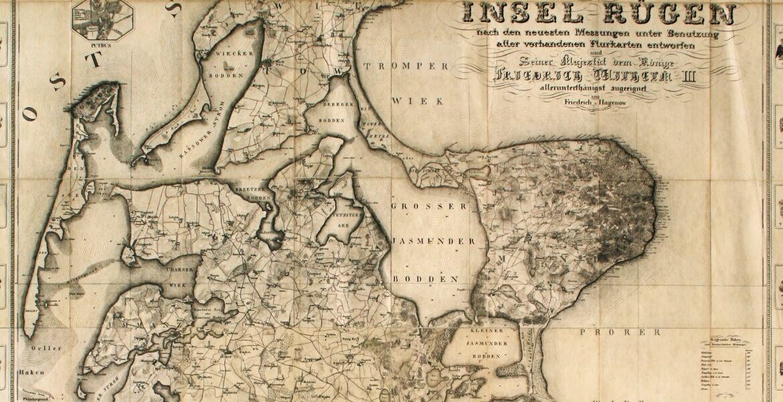 Rügen-Karte von Hagenow