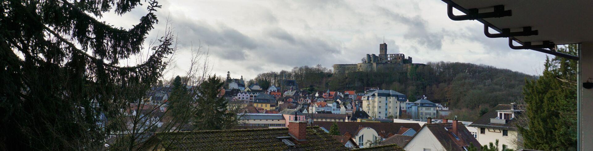 Blick vom Balkon der Außenwohnung in Königstein
