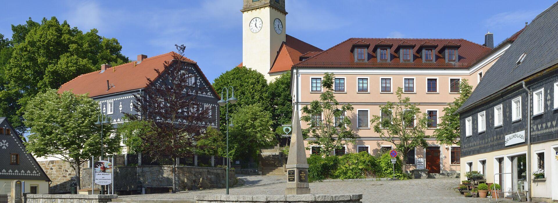 Marktplatz Sohland a.d. Spree Foto: Karin Jähne