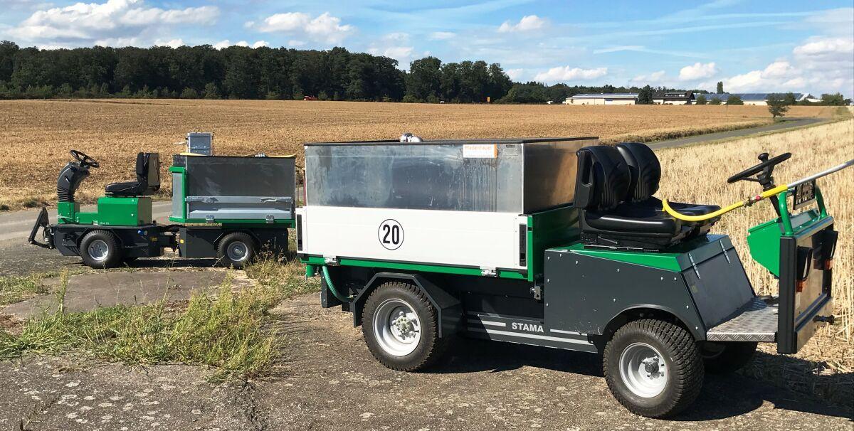 elektrische Gießfahrzeuge: GMR Stama Mini EL & Evo EL