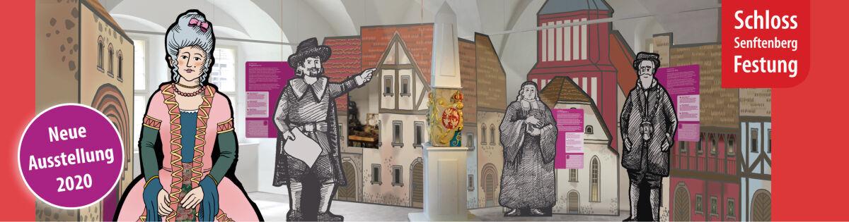 Kosmos Kleinstadt_Neue Ausstellung Illustration: Hollstein