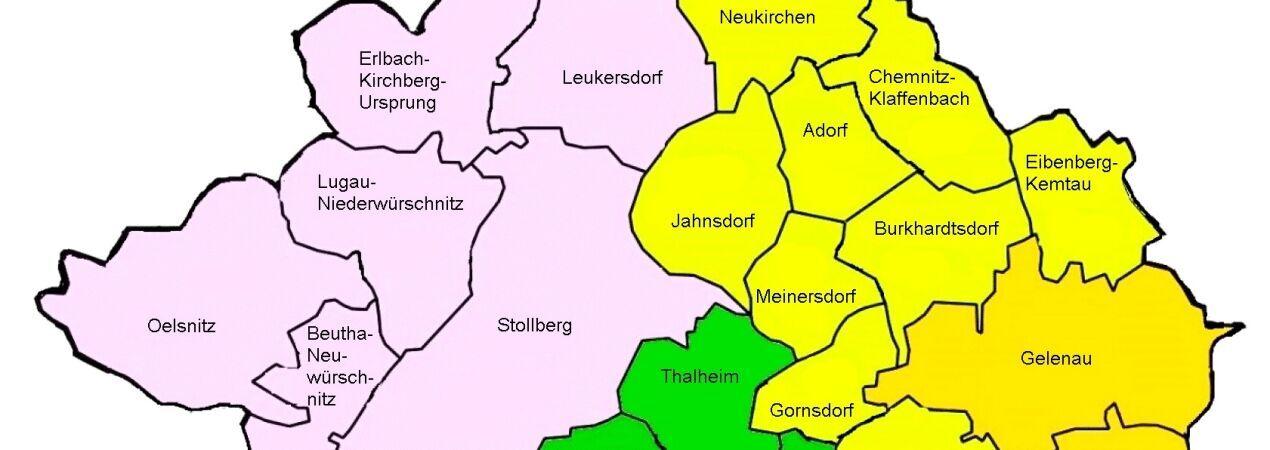 Teil der Regionen im KBZ