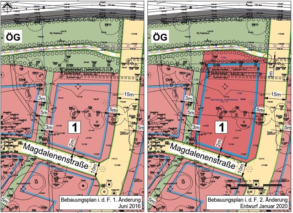 stadt gro r schen 2 nderung bebauungsplan nr 13 und 22 wohnfeld alma