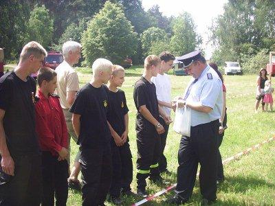 Foto des Albums: Jugendfeuerwehrausscheid und Jugendflamme in Worin 26.05.07 99Fotos (26.05.2007)
